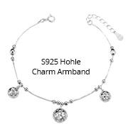 S925 Hohle Charm Armband