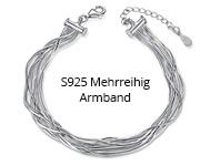 S925 Mehrreihig Armband