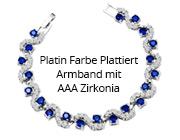 Platin Farbe Plattiert Armband mit AAA Zirkonia