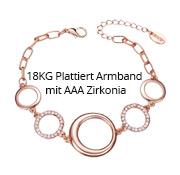 18KG Plattiert Armband mit AAA Zirkonia
