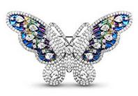 Platin Farbe Plattierte Schmetterling Brosche