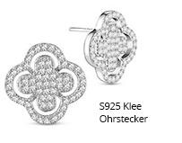 S925 Klee Ohrstecker