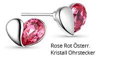 Rose Rot Österr. Kristall Ohrstecker