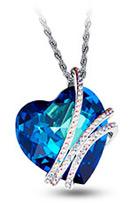 Mazarin Österr. Kristall Herz Halskette