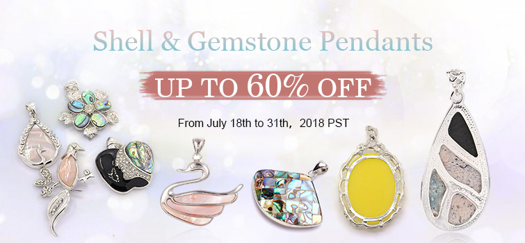 Shell & Gemstone Pendants UP TO 60%  OFF