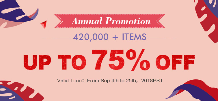 Annual PROMOTION- 370,000+ Items Up to 75% OFF