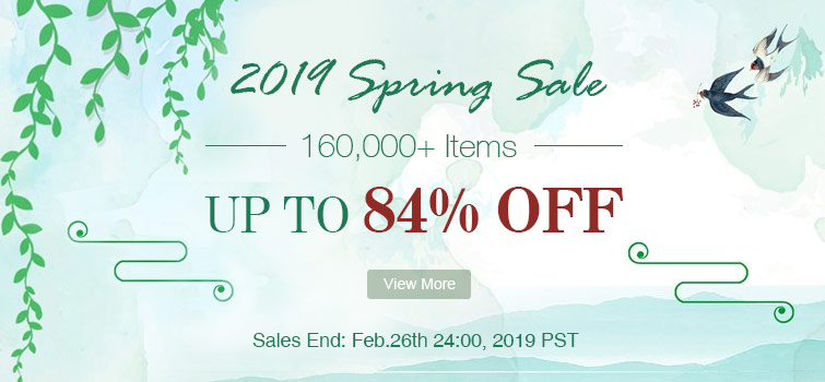 2019 SPRING SALE Up to 84% OFF