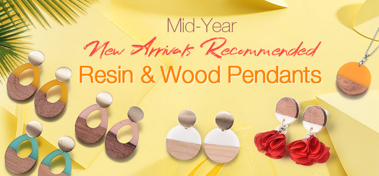 Resin & Wood Pendents