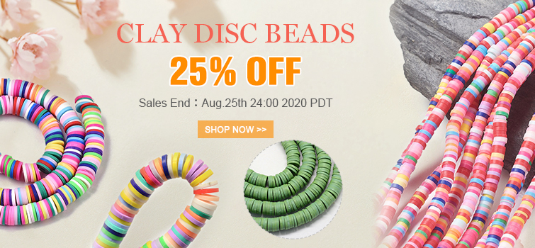 CLAY DISC Beads 25% OFF